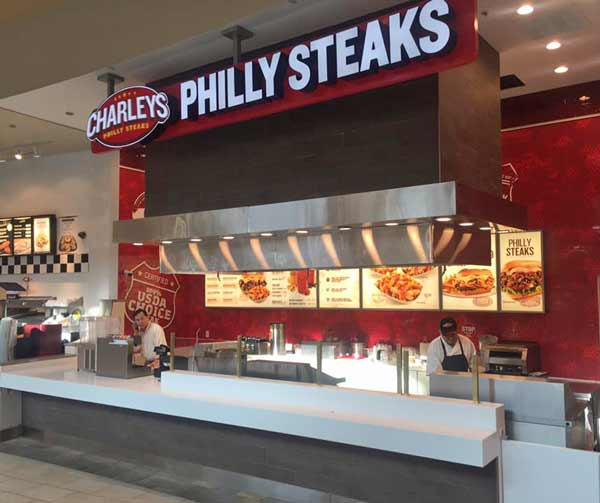 Philly Steaks restaurant case work and countertops in Indianapolis Indiana