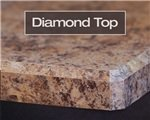 Diamond Top laminate edge profile available at Rabb & Howe Cabinet Top Co. 2571 Winthrop Ave, Indianapolis, IN 46205
