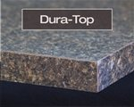 Dura-Top laminate edge profile available at Rabb & Howe Cabinet Top Co. 2571 Winthrop Ave, Indianapolis, IN 46205