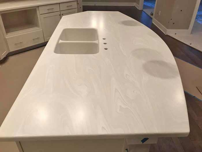 Solid surface corian countertop in Indianapolis is a Kosher surface